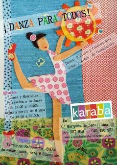 Cartel del curso 2013-14 en Espacio Karaba (Guadalajara)
