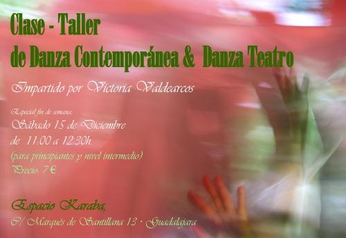 Taller el sábado 15 de Diciembre en Karaba. Guadalajara
