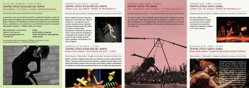 Folleto Pasos y Danza 2013 reverso