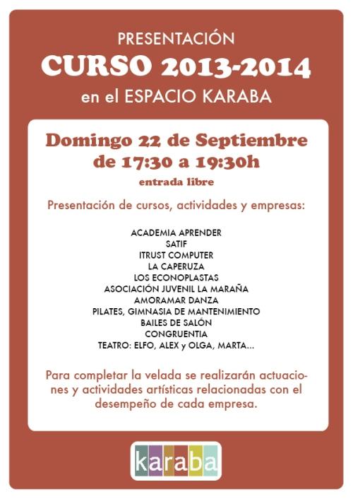 FIESTA DE PRESENTACIÓN DEL KARABA