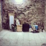 Así estaba la sala antes...