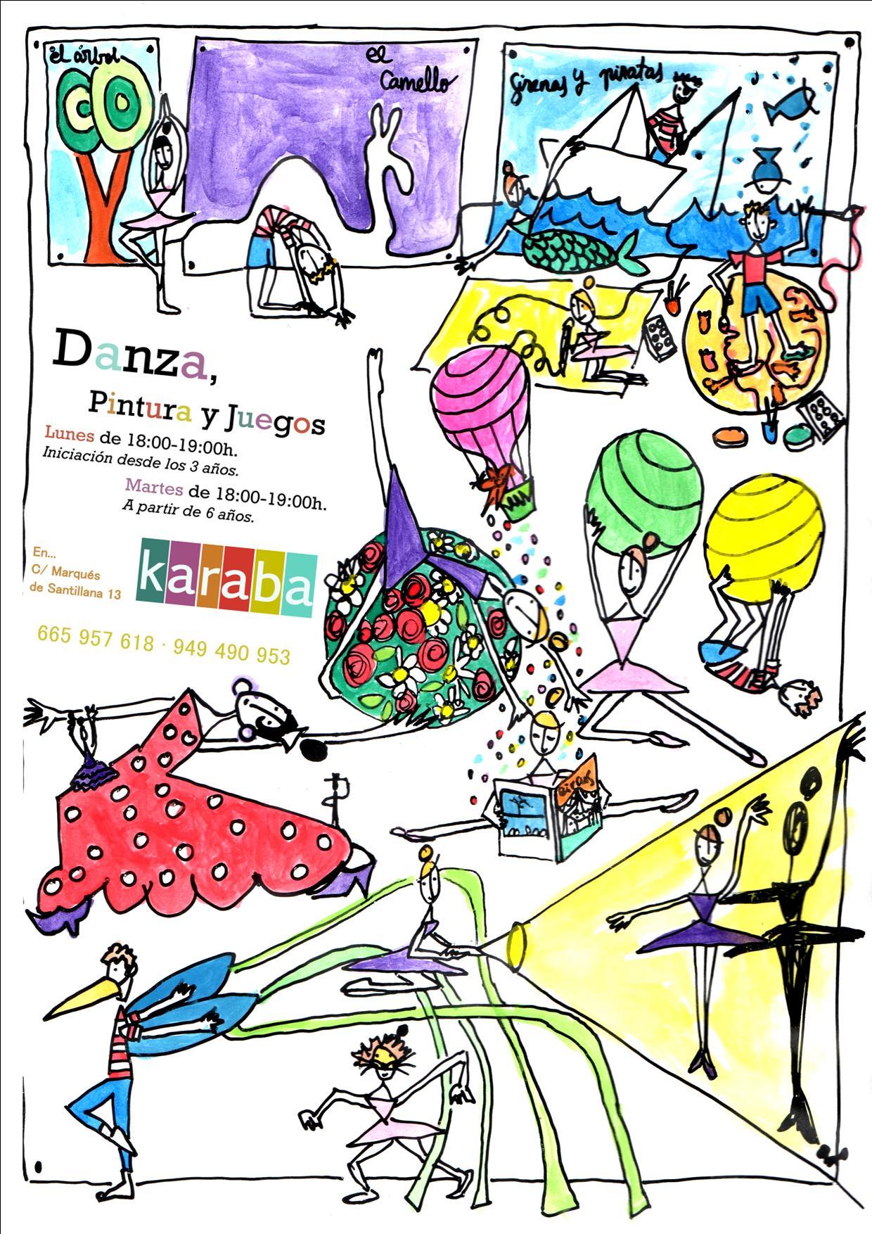 Danza, pintura y Juegos en Espacio Karaba