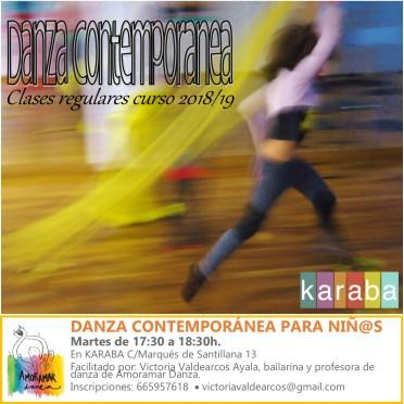DANZA CONTEMPORÁNEA PARA NIÑ@S KARABA CURSO 2018-19